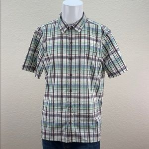 Mens Patagonia Textured Short Sleeve Button Up